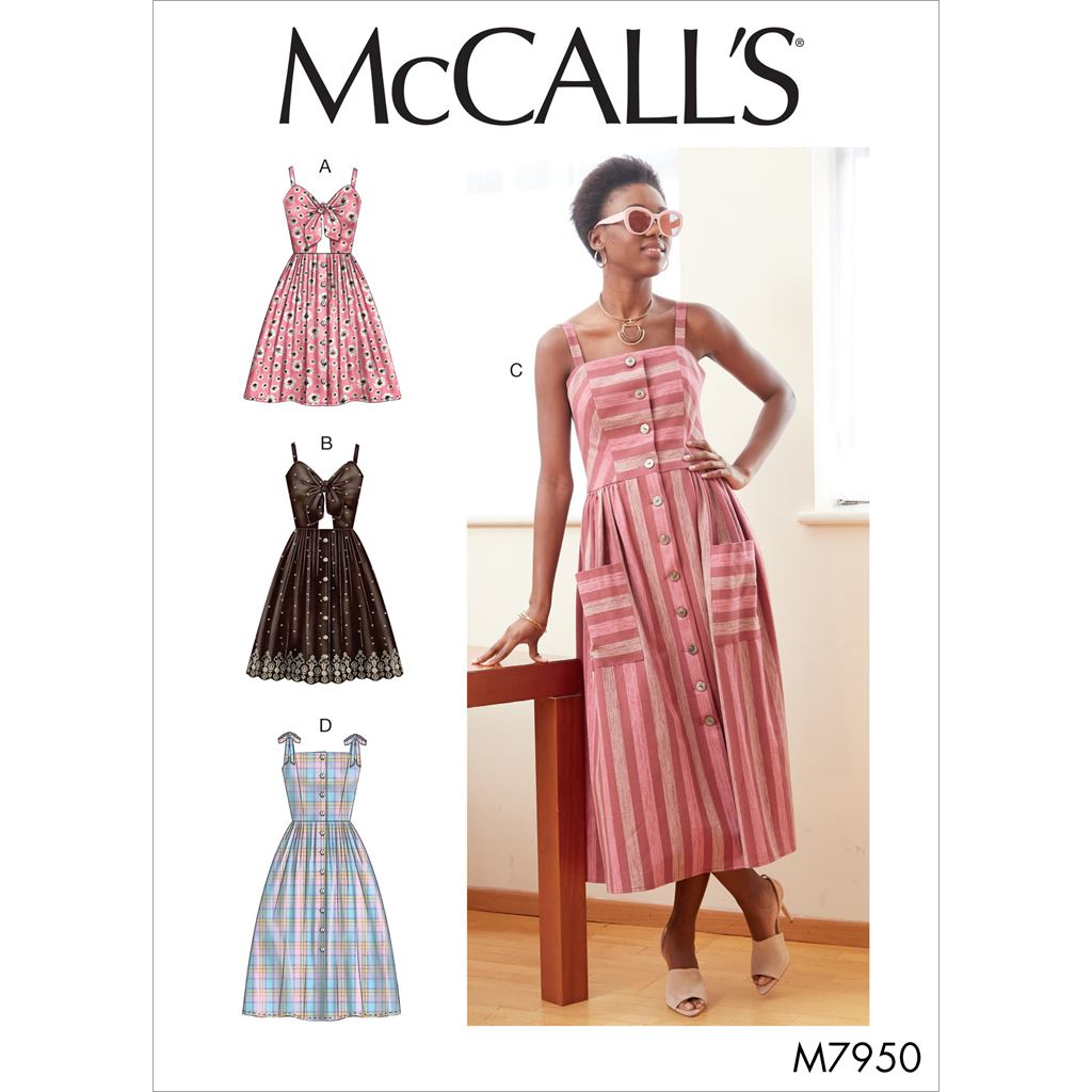 McCall's Pattern M7950 Misses Dresses 7950 Image 1 From Patternsandplains.com