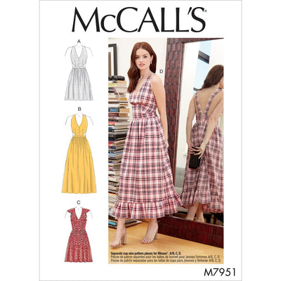 McCall's Pattern M7951 Misses Dresses 7951 Image 1 From Patternsandplains.com