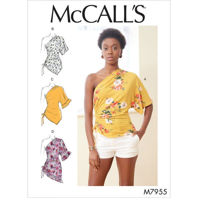 McCall's Pattern M7955 Misses Tops 7955 Image 1 From Patternsandplains.com