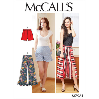 McCall's Pattern M7961 Misses Shorts and Pants 7961 Image 1 From Patternsandplains.com