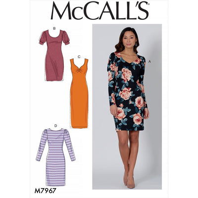 McCall's Pattern M7967 Misses Dresses 7967 Image 1 From Patternsandplains.com
