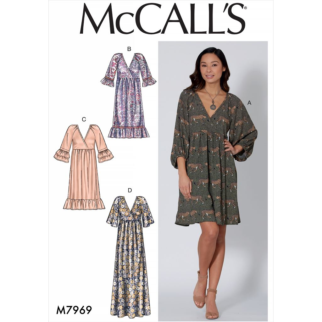 McCall's Pattern M7969 Misses Dresses 7969 Image 1 From Patternsandplains.com