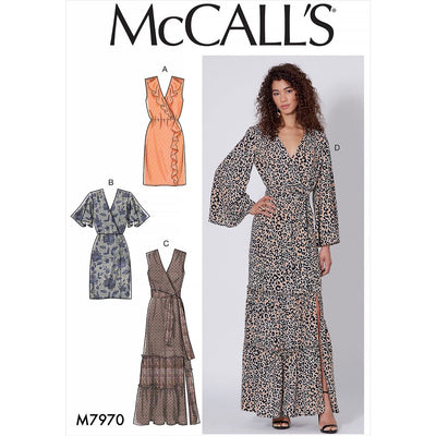 McCall's Pattern M7970 Misses Dresses 7970 Image 1 From Patternsandplains.com