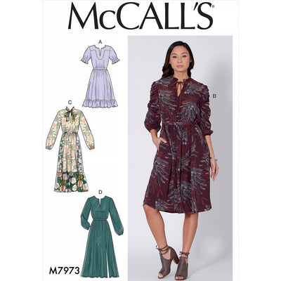 McCall's Pattern M7973 Misses Dresses 7973 Image 1 From Patternsandplains.com