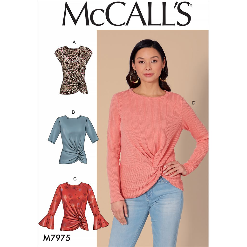 McCall's Pattern M7975 Misses Tops 7975 Image 1 From Patternsandplains.com