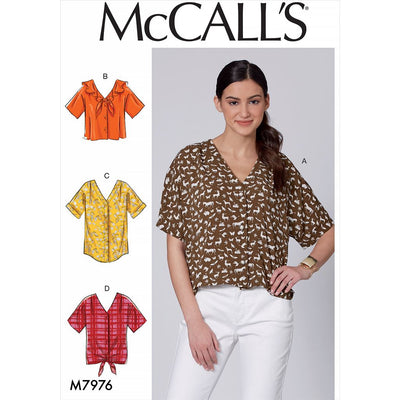 McCall's Pattern M7976 Misses Tops 7976 Image 1 From Patternsandplains.com
