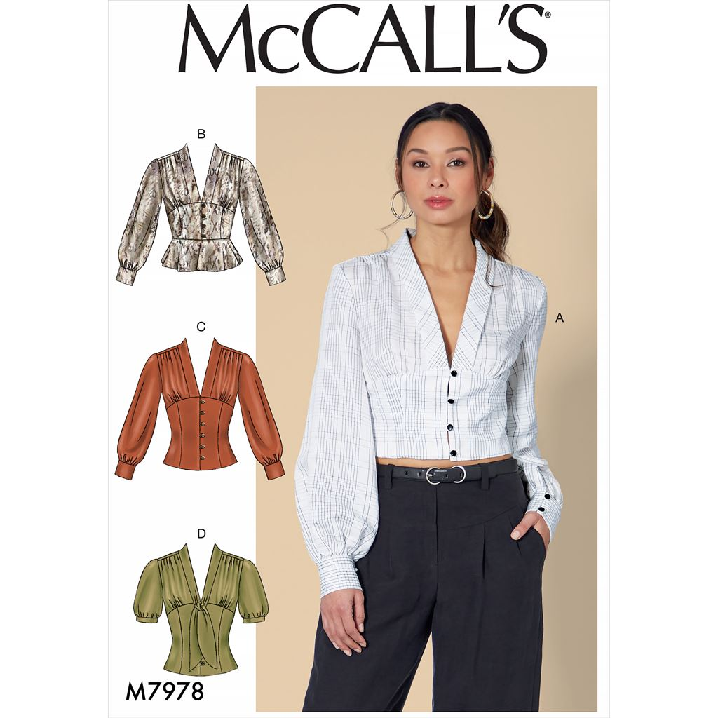 McCall's Pattern M7978 Misses Tops 7978 Image 1 From Patternsandplains.com