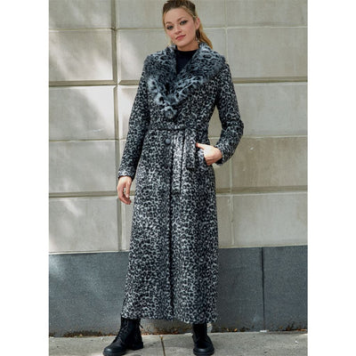 McCall's Pattern M8013 Misses Outerwear Detachable Fur Collar and Belt 8013 Image 2 From Patternsandplains.com