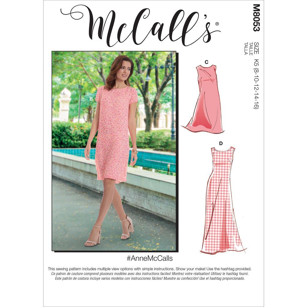 McCall's Pattern M8053 #AnneMcCalls Misses Tent Dress In 2 Lengths 8053 Image 1 From Patternsandplains.com