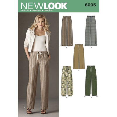 New Look Pattern 6005 Misses Pants Image 1 From Patternsandplains.com