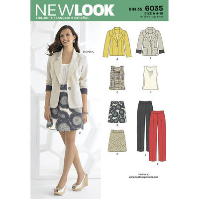 New Look Pattern 6035 Misses Separates Image 1 From Patternsandplains.com