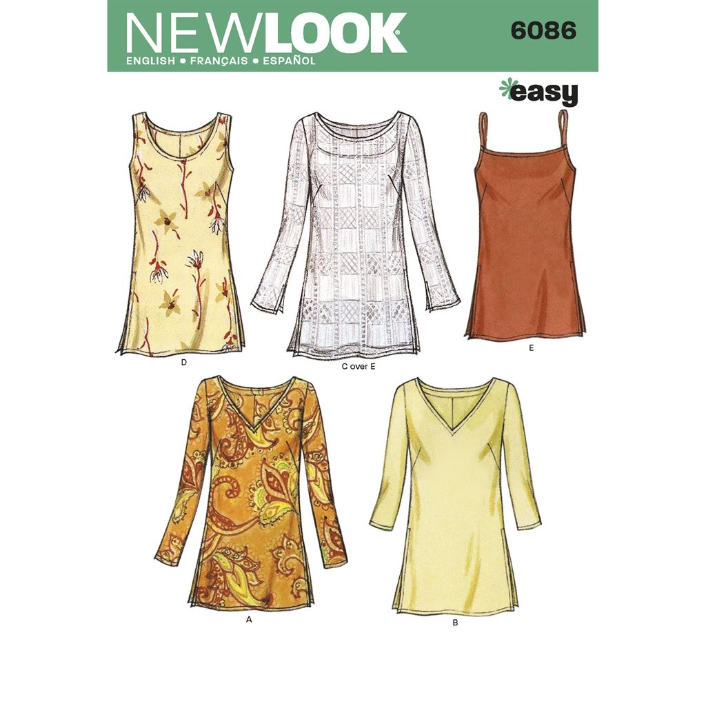 New Look Pattern 6086 Misses Tops Image 1 From Patternsandplains.com