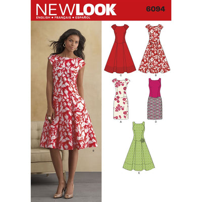 New Look Pattern 6094 Misses Dresses Image 1 From Patternsandplains.com