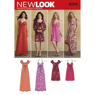 New Look Pattern 6096 Misses Dresses Image 1 From Patternsandplains.com