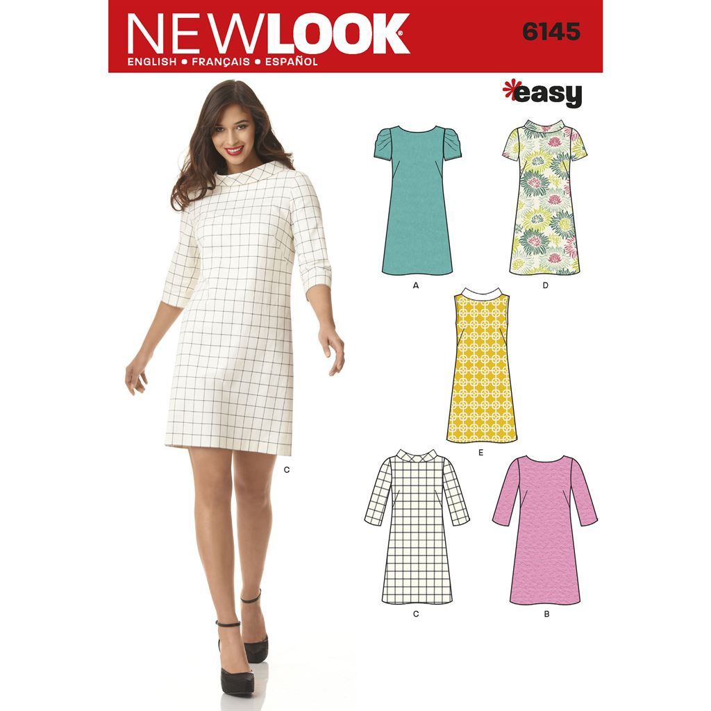 New Look Pattern 6145 Misses Dress Image 1 From Patternsandplains.com