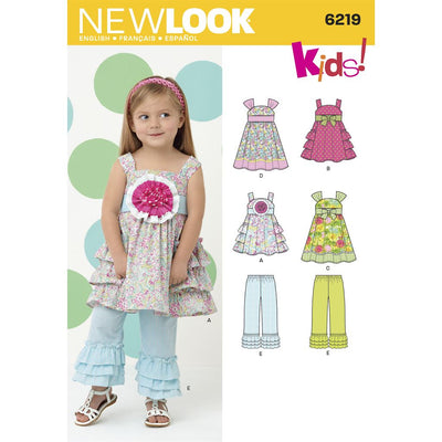 New Look Pattern 6219 Toddlers Dress and Pants Image 1 From Patternsandplains.com