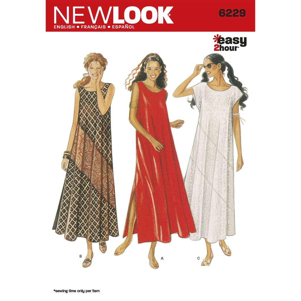 New Look Pattern 6229 Misses Dresses Image 1 From Patternsandplains.com