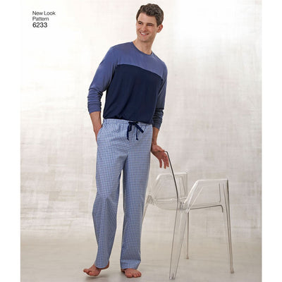 New Look Pattern 6233 Unisex Pants Robe and Knit Tops Image 4 From Patternsandplains.com