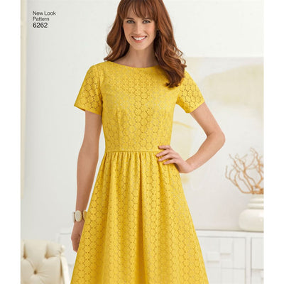 New Look Pattern 6262 Misses Dress with Neckline Variations Image 5 From Patternsandplains.com