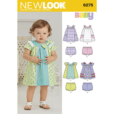 New Look Pattern 6275 Babies Dress and Panties Image 1 From Patternsandplains.com