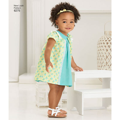New Look Pattern 6275 Babies Dress and Panties Image 2 From Patternsandplains.com