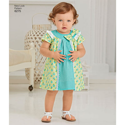 New Look Pattern 6275 Babies Dress and Panties Image 3 From Patternsandplains.com