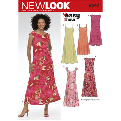 New Look Pattern 6347 Misses Dresses Image 1 From Patternsandplains.com