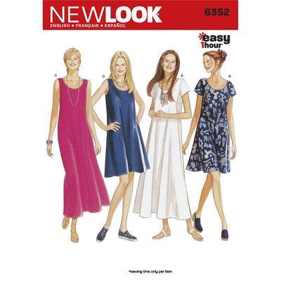 New Look Pattern 6352 Misses Dresses Image 1 From Patternsandplains.com