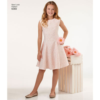 New Look Pattern 6360 Girls Sized for Tweens Dress Image 2 From Patternsandplains.com