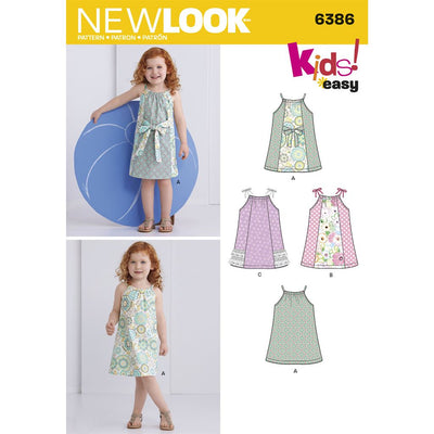 New Look Pattern 6386 Toddlers Easy Pillowcase Dresses Image 1 From Patternsandplains.com