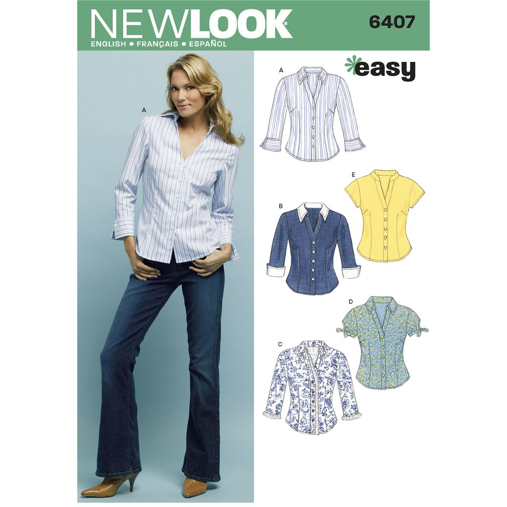 New Look Pattern 6407 Misses Tops Image 1 From Patternsandplains.com