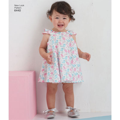 New Look Pattern 6440 Babies Romper and Sundress with Panties Image 2 From Patternsandplains.com