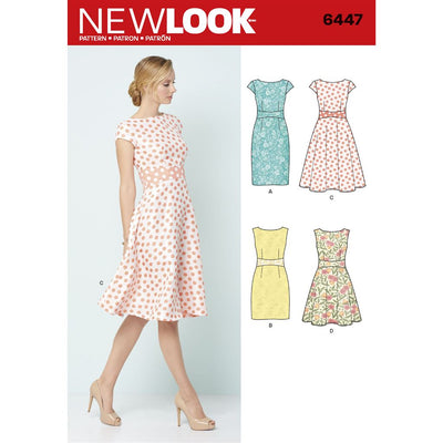 New Look Pattern 6447 Misses Dresses Image 1 From Patternsandplains.com