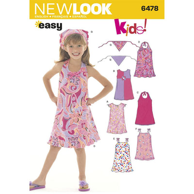New Look Pattern 6478 Child Dresses Image 1 From Patternsandplains.com