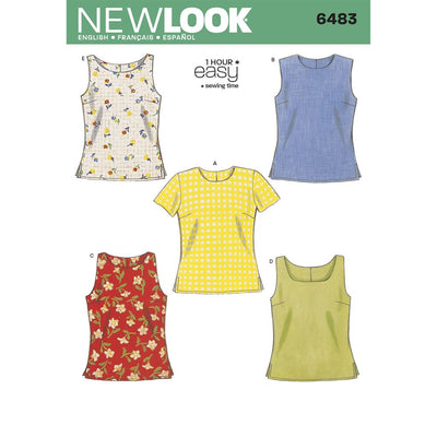 New Look Pattern 6483 Misses Tops Image 1 From Patternsandplains.com