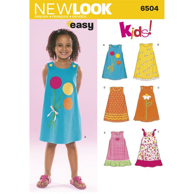 New Look Pattern 6504 Child Dresses Image 1 From Patternsandplains.com