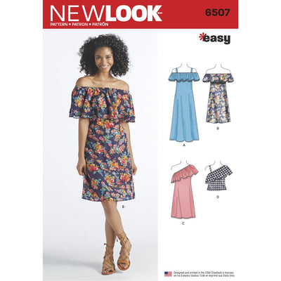 New Look Pattern 6507 Womens Dresses and Top Image 1 From Patternsandplains.com