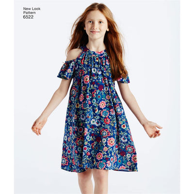 New Look Pattern 6522 Childs and Girls Dresses and Top Image 6 From Patternsandplains.com