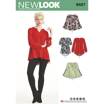 New Look Pattern 6527 Womens Tunic in Two Lengths Image 1 From Patternsandplains.com