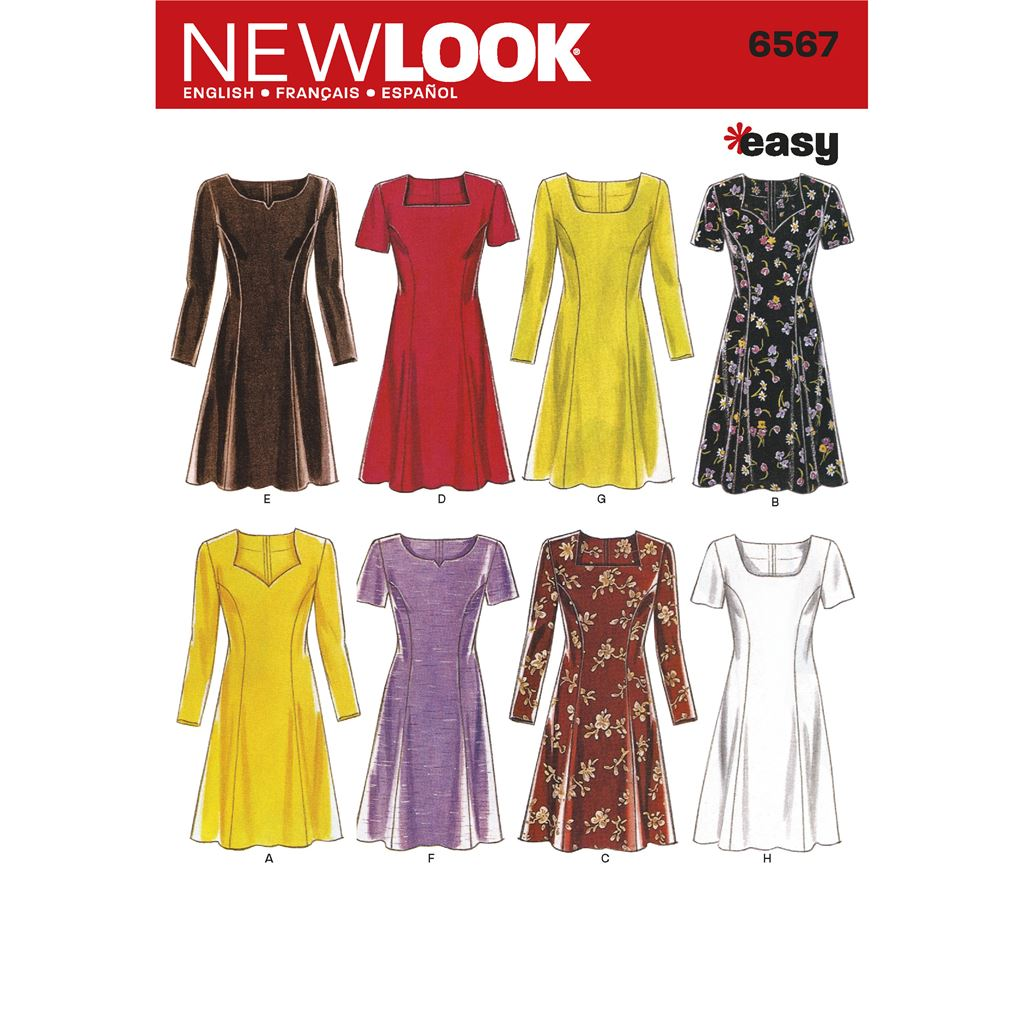 New Look Pattern 6567 Misses Dresses Image 1 From Patternsandplains.com