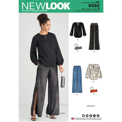 New Look Pattern 6582 Misses Pant Top and Clutch Image 1 From Patternsandplains.com
