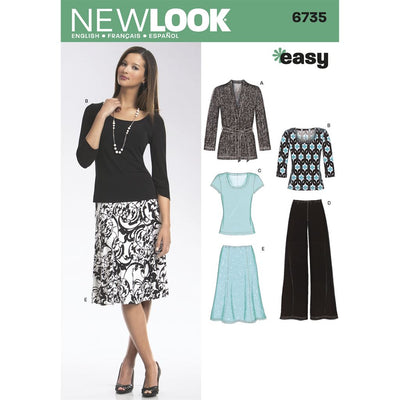 New Look Pattern 6735 Misses Separates Image 1 From Patternsandplains.com