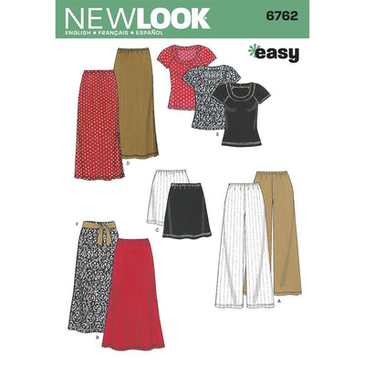 New Look Pattern 6762 Misses Separates Image 1 From Patternsandplains.com