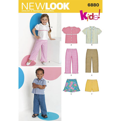 New Look Pattern 6880 Toddler Separates Image 1 From Patternsandplains.com