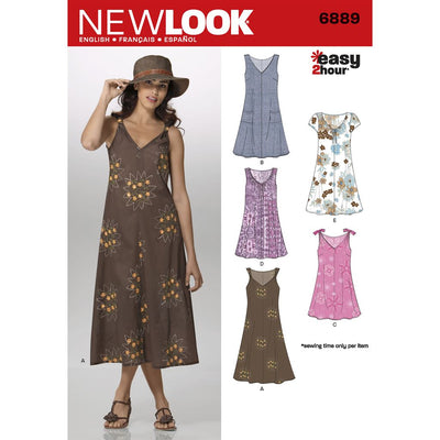 New Look Pattern 6889 Misses Dresses Image 1 From Patternsandplains.com