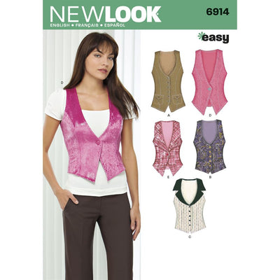 New Look Pattern 6914 Misses Tops Image 1 From Patternsandplains.com
