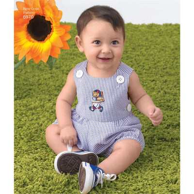 New Look Pattern 6970 Babies Romper Dress and Panties Image 2 From Patternsandplains.com