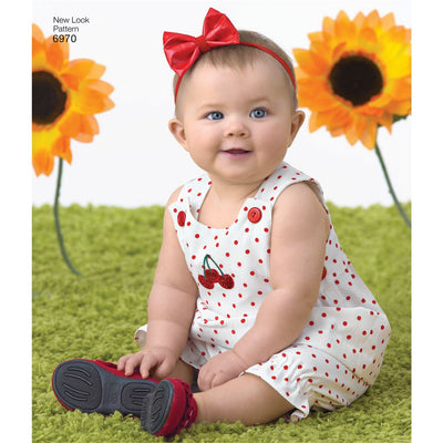 New Look Pattern 6970 Babies Romper Dress and Panties Image 3 From Patternsandplains.com