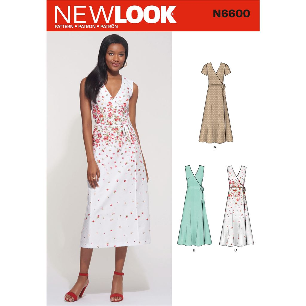 New Look Sewing Pattern N6600 Misses Wrap Dress 6600 Image 1 From Patternsandplains.com