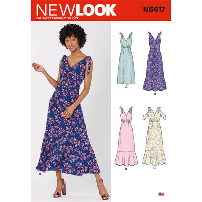 New Look Sewing Pattern N6617 Misses Dresses 6617 Image 1 From Patternsandplains.com